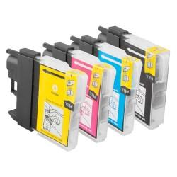 Sparset 4 Patronen XL alternativ zu Brother LC-1100 BK, C, M, Y