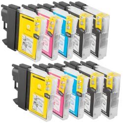 Sparset 10 Patronen XL alternativ zu Brother LC-1100 BK, C, M, Y