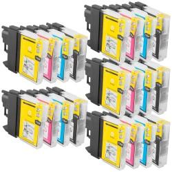 Sparset 20 Patronen XL alternativ zu Brother LC-1100 BK, C, M, Y