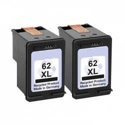 2x Druckerpatrone XL recycled HP 62 XL Black