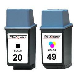 Sparset 2 Patronen XL recycled HP 20 & 49