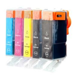 Sparset 5 Patronen XL alternativ zu Canon PGI-525 CLI-526