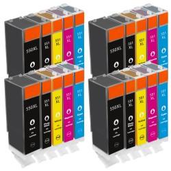 Sparset 20 Patronen XL alternativ zu Canon PGI-550XL CLI-551XL
